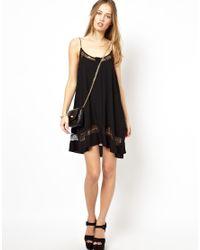 Jarlo   White Alex Cami Slip Dress with Lace Inserts   Lyst