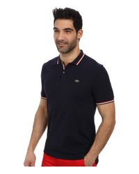 Lacoste - Blue Live Short Sleeve Semi-Fancy Pique Shirt - Lyst