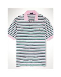Ralph Lauren - Pink Striped Pima Soft-touch Polo for Men - Lyst