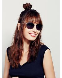 Free People - Metallic Atlanta Cat Eye Sunglass - Lyst