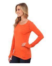 Marmot   Orange Kourtney Long Sleeve Top   Lyst
