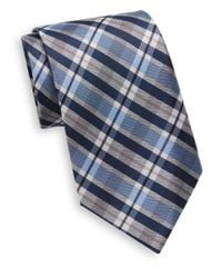 Burma Bibas - Blue Plaid Silk Tie for Men - Lyst