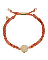 Michael Kors   Orange Goldtone Logo Disk Macrame Bracelet   Lyst