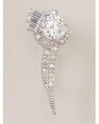 V Jewellery | Metallic Brilliance Flitch Lobe Earrings | Lyst