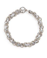 Rebecca Minkoff | Metallic Leather Hepburn Necklace | Lyst