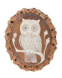 Amedeo | Metallic Owl Ring | Lyst