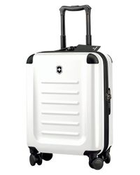 Victorinox | White 'spectra 2.0' Global Hard Sided Rolling Carry-on for Men | Lyst