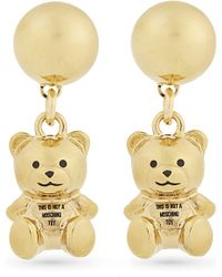 Moschino | Metallic Bear Earrings - For Women | Lyst