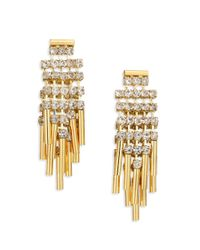ABS By Allen Schwartz | Metallic Bitter Not Sweet Jewel Fringe Drop Earrings/goldtone | Lyst