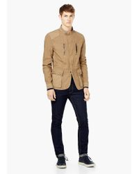 Mango - Brown Cotton Canvas Field Jacket for Men - Lyst