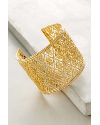 Anthropologie - Metallic Merveille Cuff - Lyst
