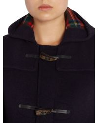 Gloverall - Blue Long Slim Duffle Coat - Lyst
