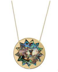 House of Harlow 1960 | Metallic Gold-tone Abalone Stone Sunburst Pendant Necklace | Lyst