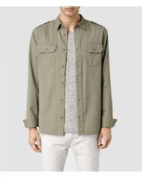 AllSaints - Natural Elias Shirt for Men - Lyst