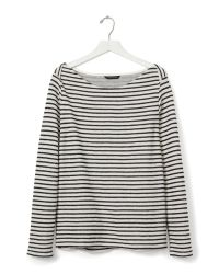 Banana Republic | Black Striped Cotton Top | Lyst