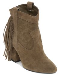 Jessica Simpson | Green Wyoming Western Fringe Booties | Lyst