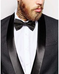 ASOS | Black Bow Tie With Gold Stud for Men | Lyst