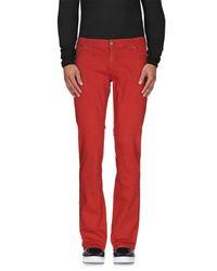 John Richmond - Red Denim Trousers for Men - Lyst