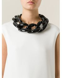 Moschino - Black Chunky Chain Necklace - Lyst