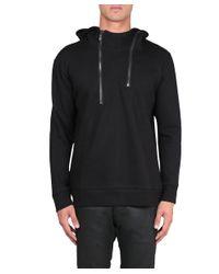D.GNAK - Black Cotton Sweatshirt With Zip for Men - Lyst
