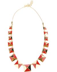 Marc By Marc Jacobs | Metallic Pyramid Stud Necklace | Lyst