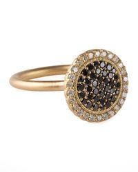 Jamie Wolf | Metallic 18k Gold Pave Diamond Scalloped Ring | Lyst