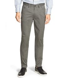 Vince Camuto | Metallic Vince 'core' Slim Fit Five Pocket Chinos for Men | Lyst