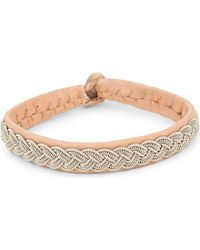 Maria Rudman | Natural Pewter Woven Bracelet | Lyst