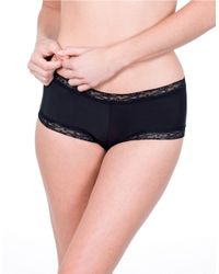 Natori | Black Bliss Smooth Girl Short Panty | Lyst