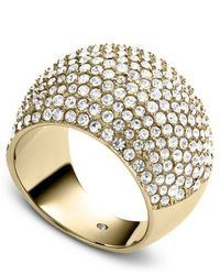 Michael Kors - Metallic Brilliance Pave Crystal Ring - Ring Size P - M/L - Lyst