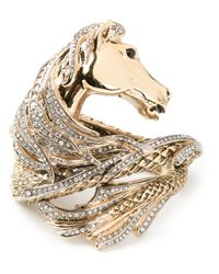 Roberto Cavalli | Metallic Horse Wrap Around Cuff | Lyst