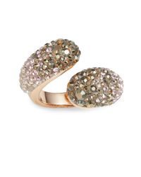 Swarovski | Pink Louise Crystal Wrap Ring | Lyst