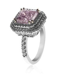 Carat* - Pink Fancy Princess Border Set Ring - Lyst