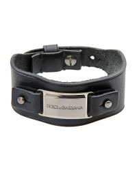 Dolce & Gabbana - Black Bracelet for Men - Lyst
