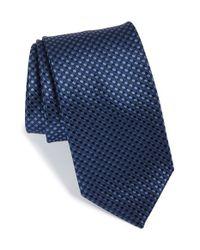 BOSS - Blue Geometric Silk Tie for Men - Lyst
