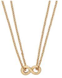 kate spade new york - Metallic New York Gold-tone Mini Infinity Pendant Necklace - Lyst