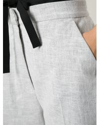 MM6 by Maison Martin Margiela   Gray Bow Detail Bermuda Shorts   Lyst