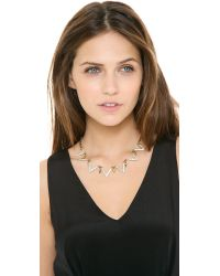 Lulu Frost - Metallic Guillotine Necklace - Lyst