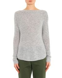 Vince - Gray Boat-Neck Cashmere Sweater - Lyst