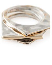 Rosa Maria | Metallic Set Of Three 'abla' Rings | Lyst