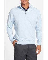 Fairway & Greene | Blue 'old School' Stretch Raglan Quarter Zip Pullover for Men | Lyst