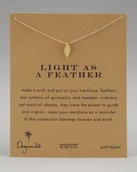 Dogeared | Metallic Light As A Feather Necklace | Lyst
