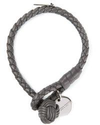 Bottega Veneta | Gray Woven Bracelet for Men | Lyst