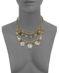 Saks Fifth Avenue - Metallic Tiered Briolette Bib Necklace - Lyst