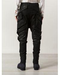 Julius - Black Drop-Crotch Jeans for Men - Lyst