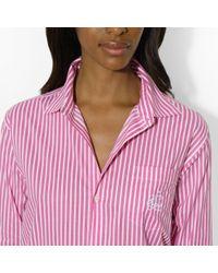 Lauren by Ralph Lauren - Pink Striped Pajama Set - Lyst