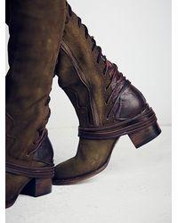 Free People | Green Freebird By Steven Womens Coal Tall Boot | Lyst