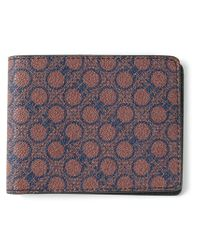 Ferragamo - Red Gancini Print Billfold Wallet for Men - Lyst