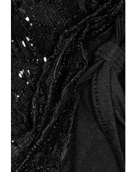 Elle Macpherson - Black Hippy Crochet-Knit and Stretch-Jersey Pajama Set - Lyst