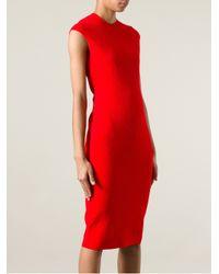 Alexander McQueen - Red Baroque Embossed Dress - Lyst